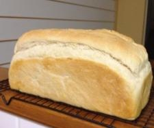 Pic of white bread loaf from the recipe community page