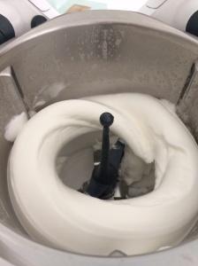 Eggs whites whipped