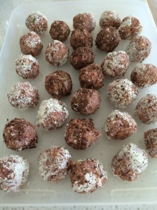 Raw strawberry bliss balls