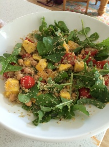 Quinoa salad with mango salsa