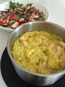Prawn and saffron risotto