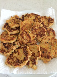 Chicken and vegetable patties