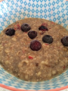 Apple and chia seed porridge