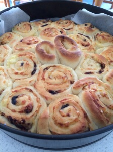 Marmite and cheese scrolls
