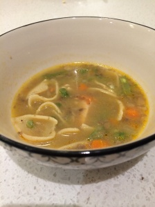 Chicken and vegetable and noodle soup