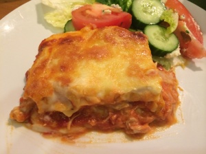 Pumpkin and chicken lasagne