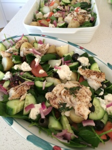 Greek style fish salad