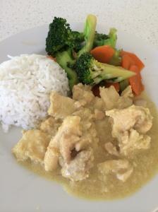 Easy curry satay chicken