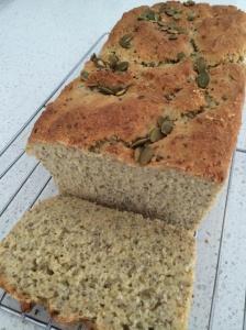 Chia and pepita ( gluten free ) bread