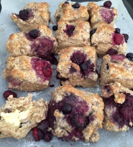 Wholemeal berry scones